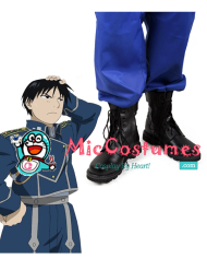 Fullmetal Alchemist Roy Mustang Cosplay Boots