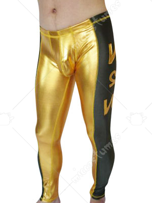 Gold And Black Spandex Pants