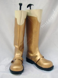 Gold Macross Frontie Ranka Lee Cosplay Shoes Boots