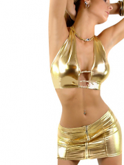Gold Shiny Metallic Lingerie