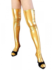 Gold Shiny Metallic Sexy Stockings