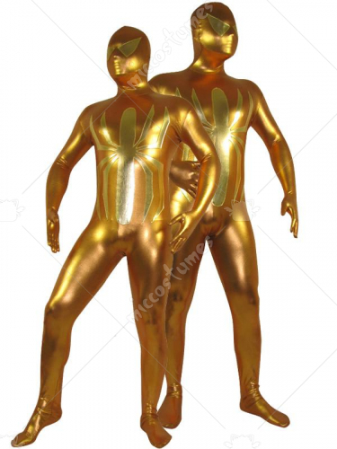 Golden Shiny Metallic Unisex Spiderman Zentai Costume