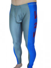 Gray And Blue Spandex Pants