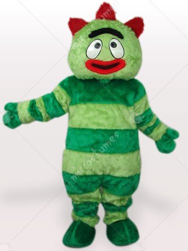 Green Monster Short Plush Adult Mascot Costume