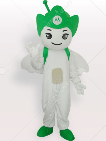 Green Moto Angel Short Plush Adult Mascot Costume