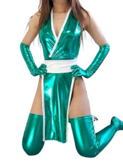 Green Shiny Metallic Sexy Costume