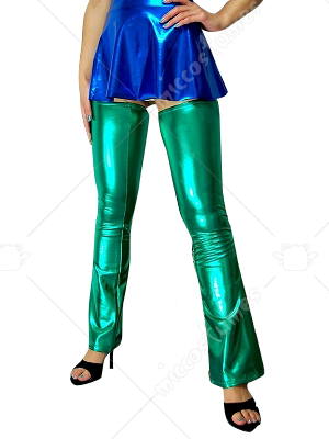 Green Shiny Metallic Sexy Pants
