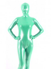 Green Shiny Metallic Zentai Suit