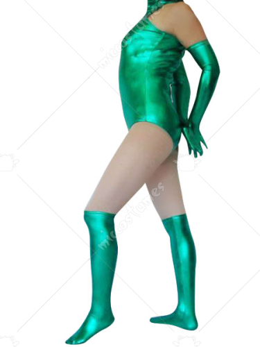 Green Shiny Metallic Catsuit
