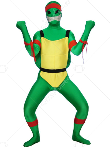Green Teenage Mutant Ninja Turtles Spandex Lycra Super Hero Cost