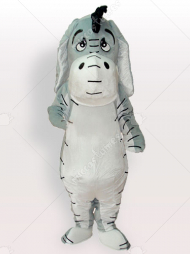 Grey Donkey Adult Mascot Costume