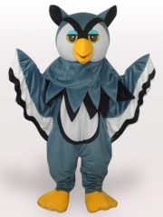 Grey Eagle Short Plush Adult Mascot Costume