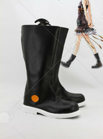 Guilty Crown Inori Black Dress Cosplay Shoes