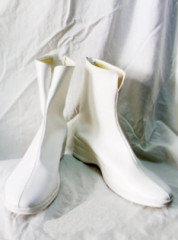 Gundam Seed Lacus Clyne White Cosplay Shoes Boots
