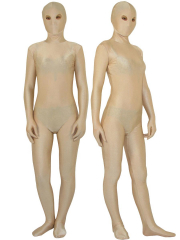 Half Transparent Lycra Spandex Flesh Unisex Zentai with Eyes Ope