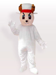 Happy Sheep Adult Mascot Costume