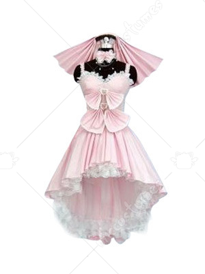 Heart Shaped Neck Lolita Cosplay Costume