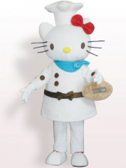 Hello Kitty Cook Plush Adult Mascot Costume