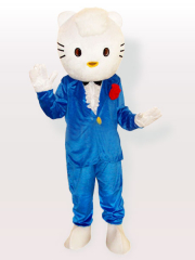 Hello Kitty in Blue Suit Adult Mascot Costume