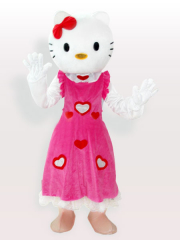 Hello Kitty in Pink Dress Adult Mascot Costume