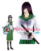 Highschool Of The Dead Saeko Busujima Cosplay Wig