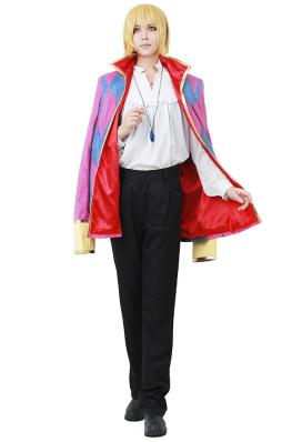 Das Wandelnde Schloss Howl Cosplay Kostüm inklusive Schmuck Halskette