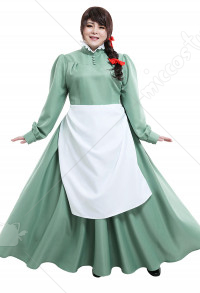 Plus Size Howls Moving Castle Sophie Hatter Dress Curvy Cosplay Costume