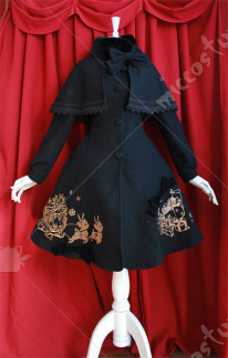Infanta Christmas Embroidery Lolita Cape Coat