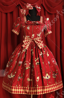Infanta Lolita Amusement Park Printing Dress