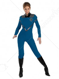 Invisible Woman Susan Storm Richards Lycra Super Hero Costume
