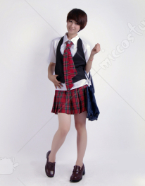 Japanese Check Skirt School Uniform