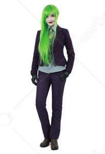 Female Batman Joker Cosplay Costume