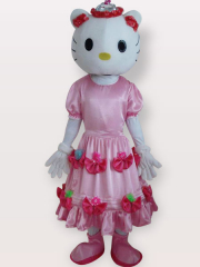 Kitty Pink Short Plush Adult Mascot Costume