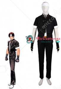The King Of Fighters Kyo kusanagi Black Cosplay Costume
