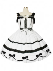 Lace Trimmed Gothic Lolita Cosplay Dress