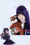 League of Legends LOL Dark Child Annie Cosplay Wig Purple