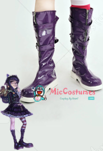 League of Legends Dark Child Annie Purple Lolita Shoes