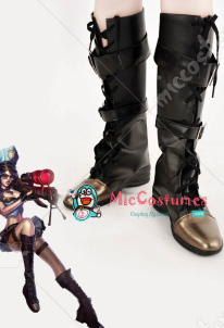 League of Legends Sheriff of Piltover Caitlyn Blue Cosplay Boots