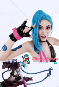 League of Legends Loose Cannon Jinx Cosplay Perruque