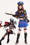 League of Legends Sheriff of Piltover Caitlyn Blue Cosplay Costume