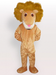 Lion of Curving Hair Adult Mascot Costume
