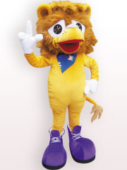 Lion Plush Adult Mascot Costume