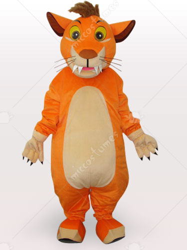 Lion Short Plush Adult Mascot Costume
