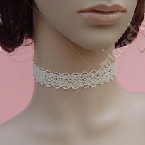 White lovely vintage lace lolita necklace