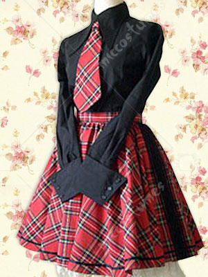 Lolita England School Uniform Lolita Cosplay Costume