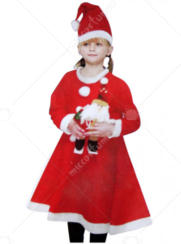 Long Santa Suit Coe For Girl