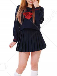 Long Sleeves Cravat School Uniform