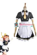 Love Live! Rin Hoshizora Maid Cosplay Costume
