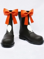 Macross Frontie Ranka Lee Cosplay Shoes Boots with orange bows