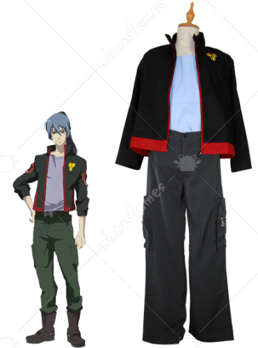 Macross Frontier SMS Team Alto Saotome Cosplay Uniform Men L